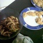 Nuggets Maison au Corn Flakes et Frites au four light !
