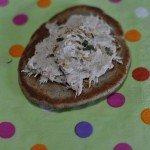 Rillettes de thon et blinis au sarrasin