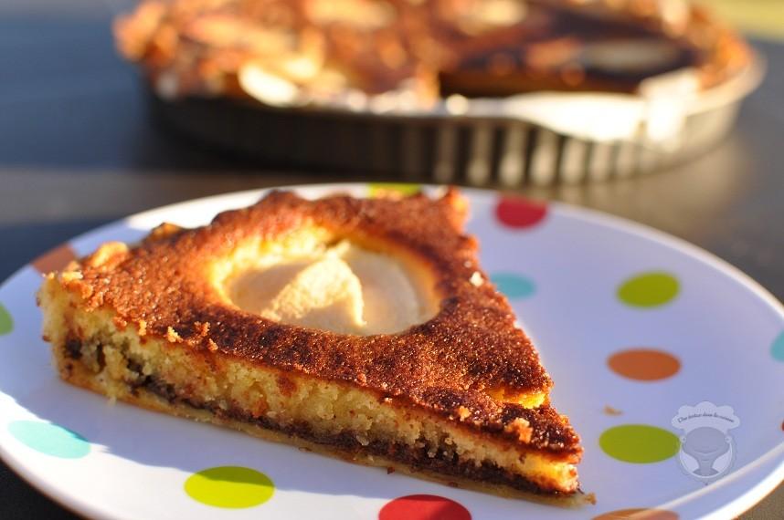 Tarte poires chocolat de sarah une tortue dans la cuisine - Poire de terre cuisine ...