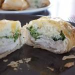 Pannequets de poulet, Boursin, brocoli