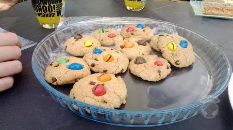 cookies pépites de chocolat M&M's