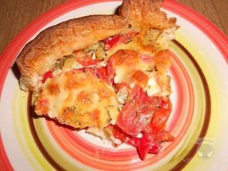 Quiche poivrons tomate mozza