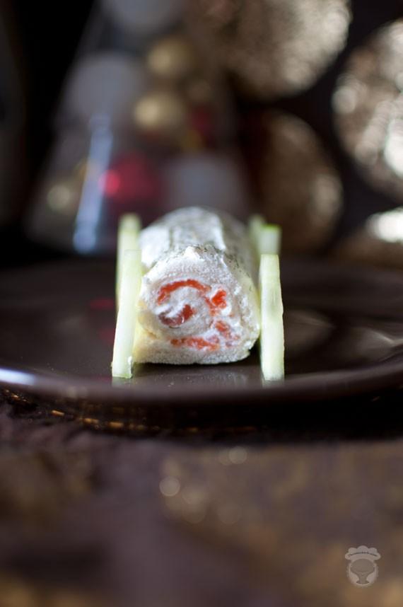buche salee au saumon et fromage frais