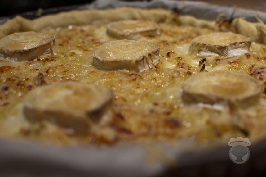 tarte oignons chèvre et miel