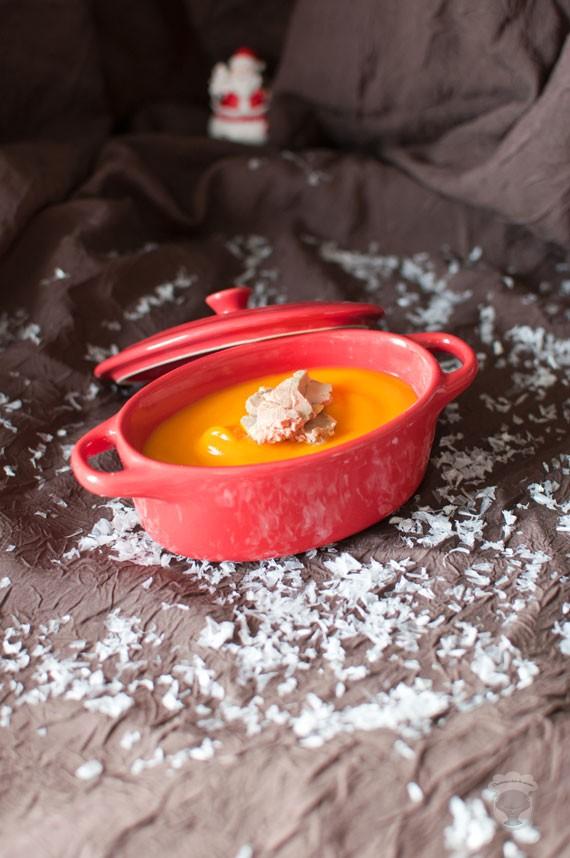 soupe de potiron au foie gras