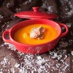 Soupe de potiron et foie gras