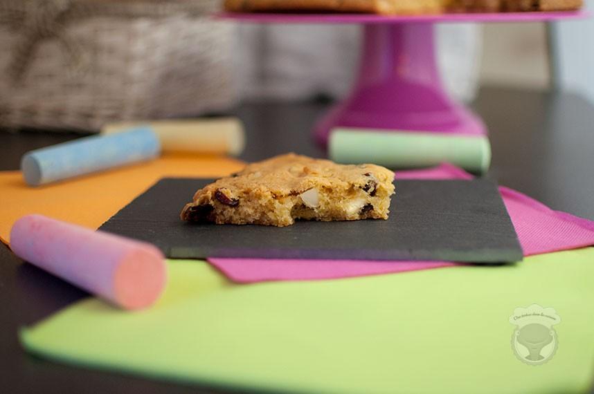 cookie géant chocolat blanc, cranberries, noix de macadamia