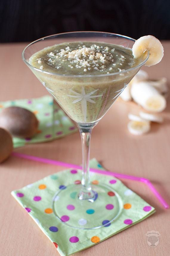 smoothie pétillant façon DBK (diabolo banane kiwi)