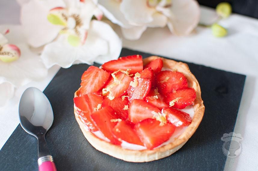 tartelette fraise mascarpone citron