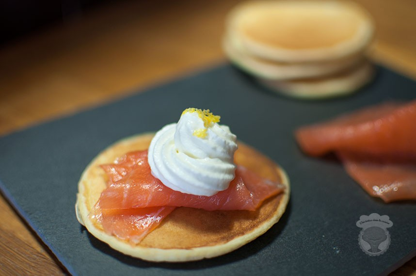 blinis saumon et chantilly au citron