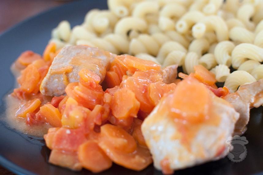 sauté porc carottes tomates