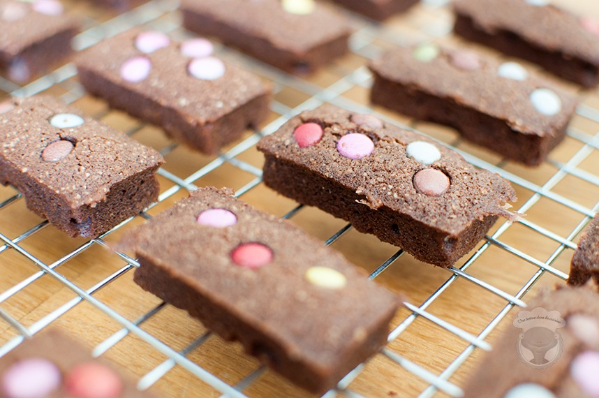 financiers chocolat smarties